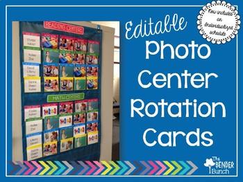 Photo Center Rotation Cards {EDITABLE}