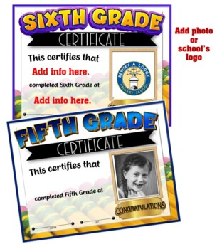 Photo Certificates {End of Year} 4-6