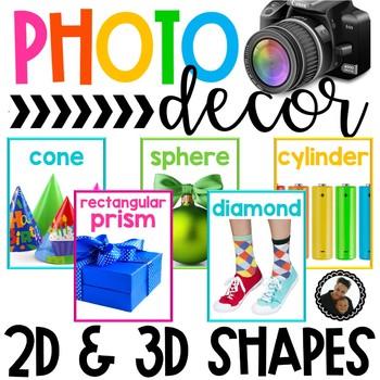 Photo Classroom Theme Decor - 2D and 3D Shapes