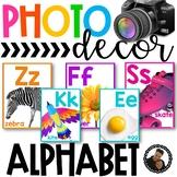 Photo Classroom Theme Decor - Alphabet Posters