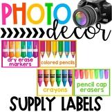 Photo Classroom Theme Decor - Supply Labels