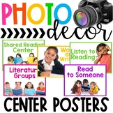 Photo Classroom Theme Decor - Center Posters