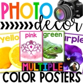 Photo Classroom Theme Decor - Color Word Posters