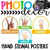 Photo Classroom Theme Decor - Hand Signal Posters