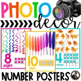 Photo Classroom Theme Decor - Number Posters