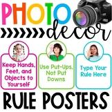 Photo Classroom Theme Decor - Rules Display