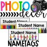 Photo Classroom Theme Decor - Student Nametags
