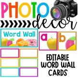 Photo Classroom Theme Decor - Word Wall Display Set
