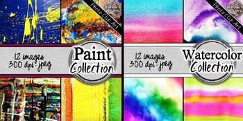 Art Digital Paper and Styled Images Bundle - 72 Images!