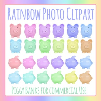 Piggy Bank Photo Clip Art Pack for Commercial Use