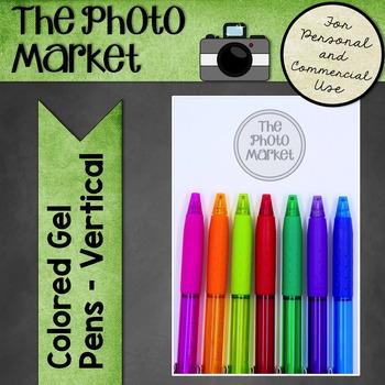 Photo: Colored Gel Pens - Vertical