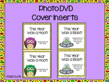 Photo DVD Cover Insert~ End of the Year Freebie