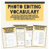 Photo Editing Vocabulary Activity Packet