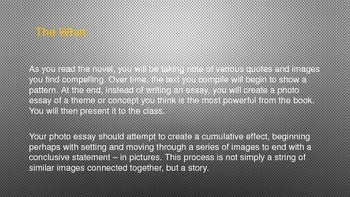 Photo Essay Lesson Plan for Novels with CC Standards