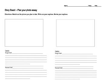 Photo Essay Story Board