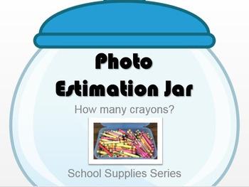 Photo Estimation Jar - How Many Crayons?