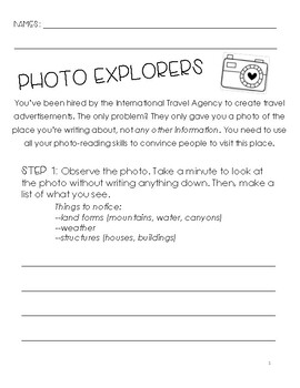 Photo Explorers Research Packet