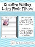 Photo Filters Creative Writing Prompts-Editable!