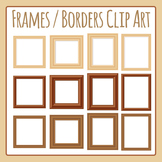 Photo Frames - Blank Wooden Frames Clip Art for Commercial Use