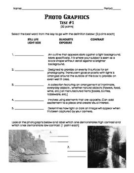 Photo Graphics/Digital Photography Test