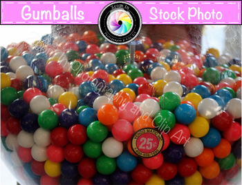 Stock Photo: Gumballs