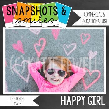 Photo: Happy: Girl: Pink