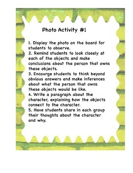 Photo Inferencing Activity #1