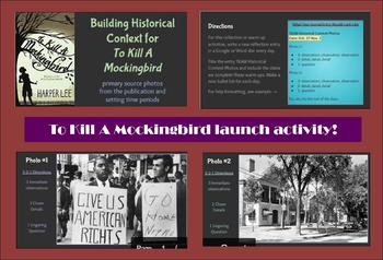 To Kill A Mockingbird- photographic unit launch
