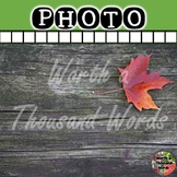 Photo: Leaf on Wood Background (For Ads or Social Media)