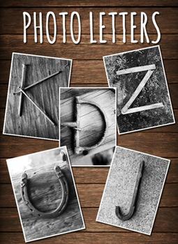 Photo Letters! Black & White