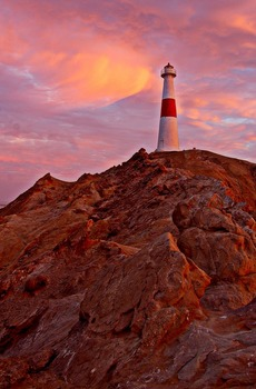 Photo : Lighthouse at Sunset