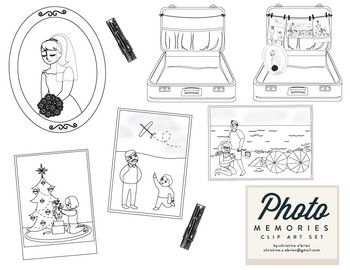 Photo Memories Clip Art Set