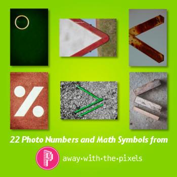 Photos of Numbers & Symbols Realistic Clip Art for Teachers - CU OK
