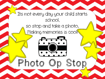 Photo Opportunity Sign for First Day of School