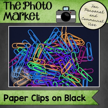 Photo: Paperclips on Black