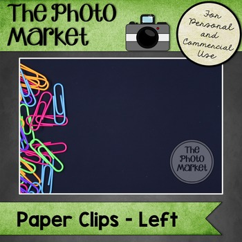 Photo: Paperclips on Black - Left
