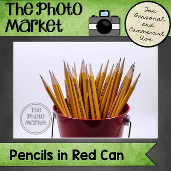 Photo: Pencils in Red Can