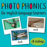 Photo Phonics for English Learners: meaningful real life images ck endings