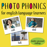 Photo Phonics for English Learners: real life images double consonant endings