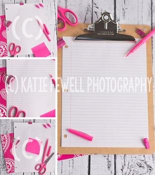 Photo: Pink Stylized Desk: 4 images