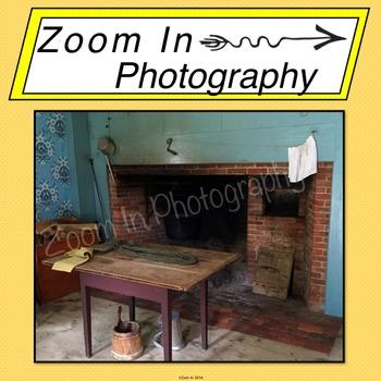 Stock Photo: Pioneer Revolutionary War Period House Interior