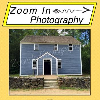 Stock Photo: Pioneer Revolutionary War Period Meetinghouse