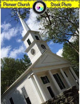 Stock Photo: Pioneer Revolutionary War Period Meetinghouse/ Church