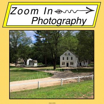 Stock Photo: Pioneer Revolutionary War Period Village (b)