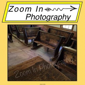 Stock Photo: Pioneer Schoolhouse Interior