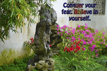 Photo Post Conquer your fear believe in yourself Inspiration Quote