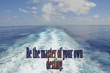 Photo Poster Be the master of your own destiny Inspirational Quote