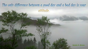 Photo Poster Difference between a good day and bad day Quote