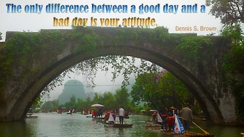 Photo Poster  Difference between good day and bad day Inspirational Quote