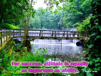 Photo Poster For success, attitude is as equally important Quote